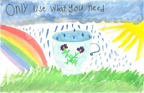 2019 Imagine a Day without Water Art Contest 1st – 2nd Grade Winner Lucy Sutton