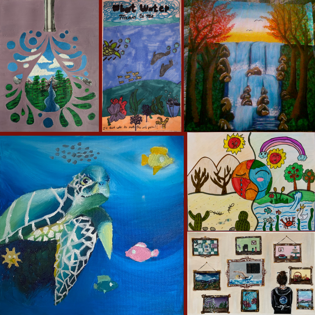 2020 Imagine a Day without Water Art Contest Collage of Winners