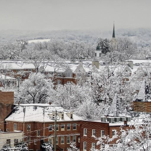 Charlottesville with Snow