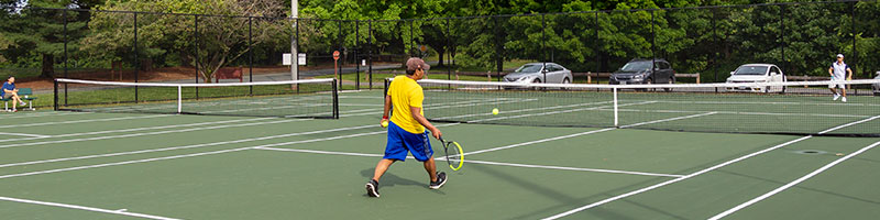 Tennis Being Played