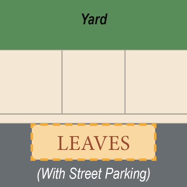 Leaf placement with street parking