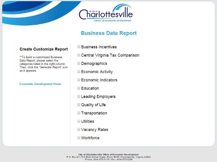 Business Data Report Screenshot