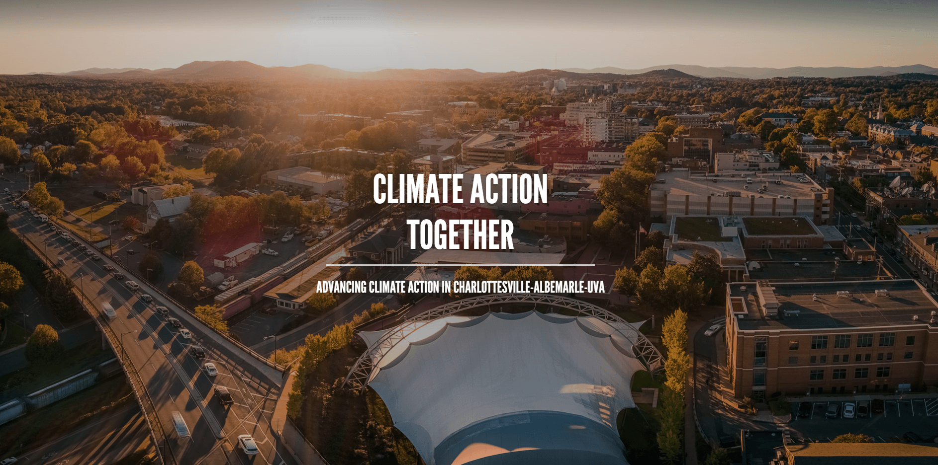 Image of the Climate Action Together website Opens in new window