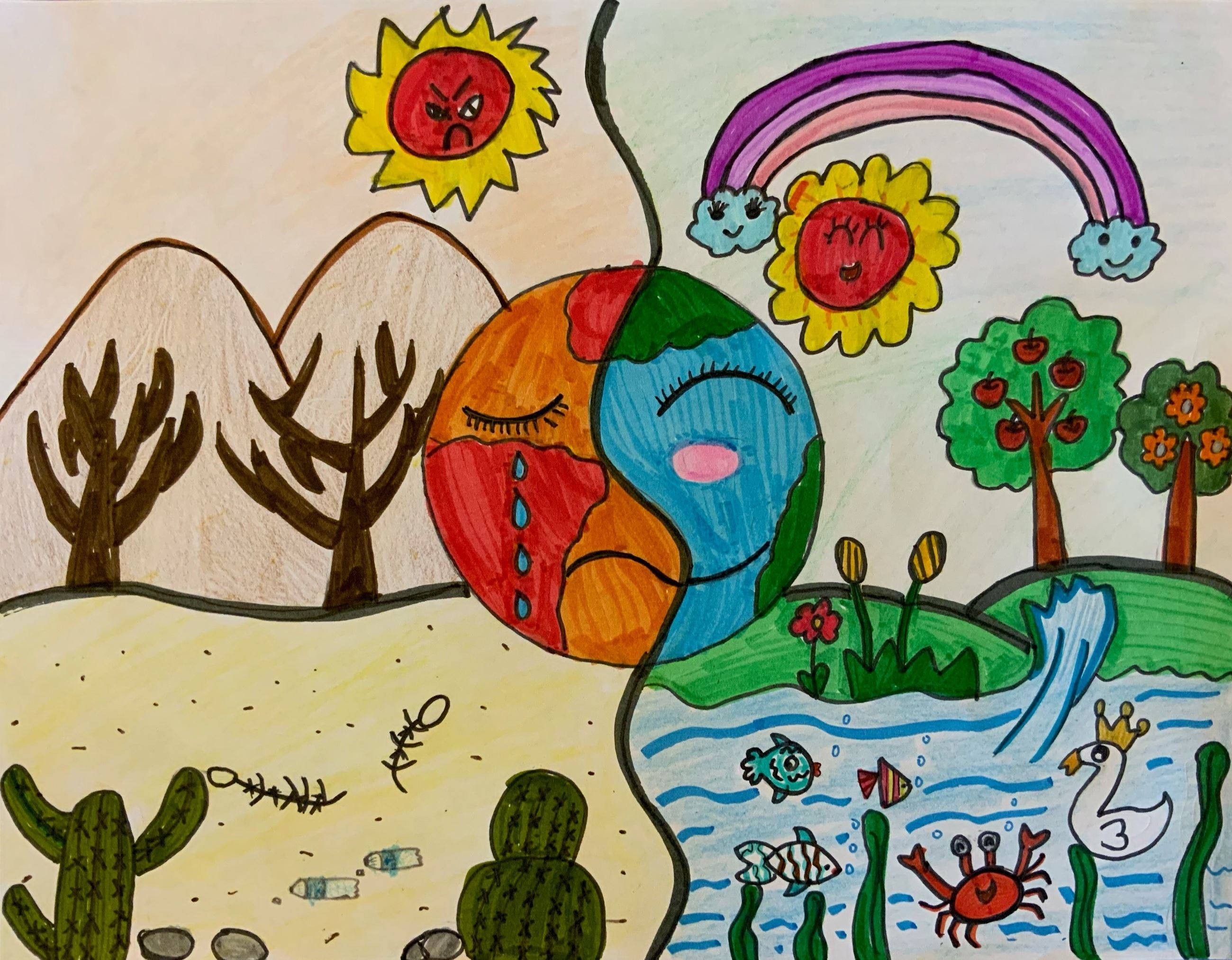 2020 Imagine a Day without Water Art Contest 1st - 2nd Grade Winner: Ruihan (Jennifer) Xue